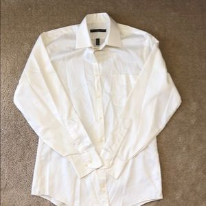 Geoffrey Beene White Button Down Dress Shirt 15